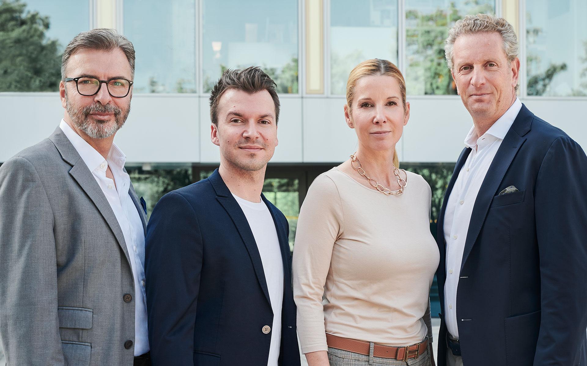 SJ-International: Thomas Junge, Stefan Kruschwitz, Andrea Meráth und Sebastiano Jaksetich (v.l.n.r.)